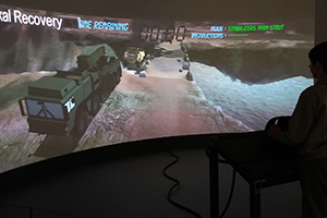 Interactive Simulation on Curved Screen REME